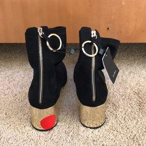 NWT! Zara Basic Black fabric ankle boots size 40/9